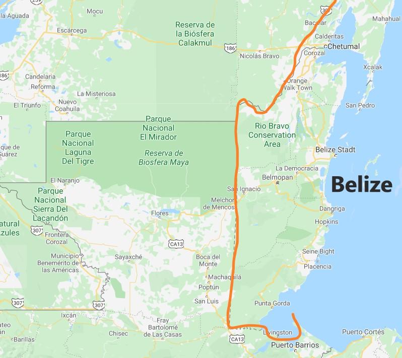 Belize Landkarte asienforever.de