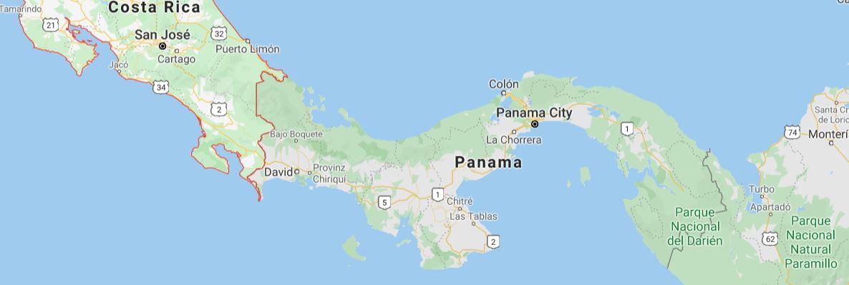 Panama Landkarte map Reisen Urlaub Ferien